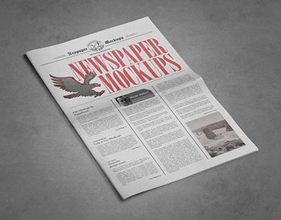 9 Newspaper PSD Advertisement Mockups Vol. 8
