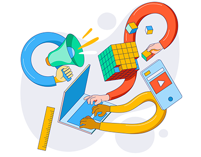 Web Illustrations / POCO / the 4 personality types
