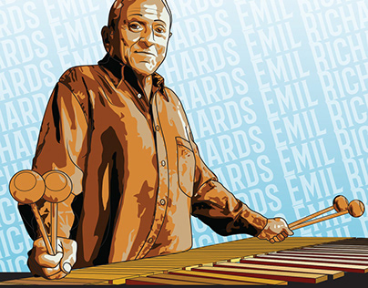 Digital Illustration for EDHS Jazz Masters Poster