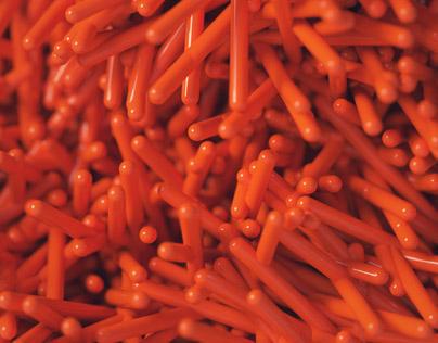 Orange-Red Capsules