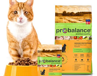 Probalance. Дизайн упаковки для корма кошек и собак.