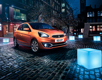 Mitsubishi Mirage press ad campaign