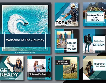 Travel agency social media post template