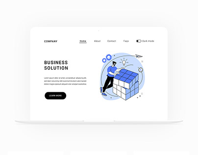 Business and startup illustrations for UI design