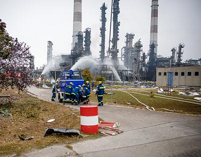 Explosion einer Raffinerie