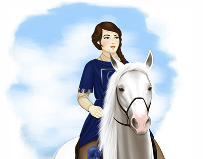 Children's book illustrations / Girl power princess