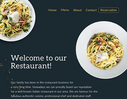 Restaurant Landing Page Parallax Effect