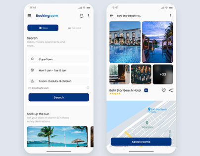 Booking.com concept redesign