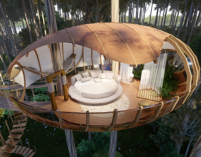 The nests cabins: Treehouse hotels by Veliz Arquitecto