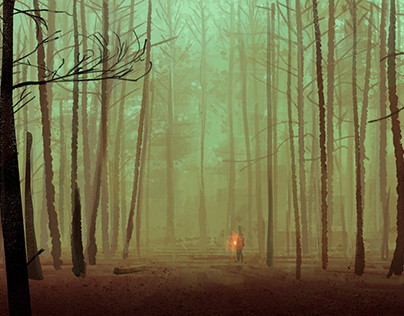 A forest - One sketch a day