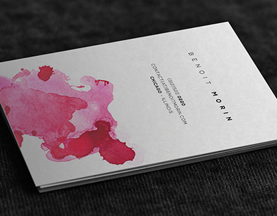 Minimalist Watercolor Business Cards