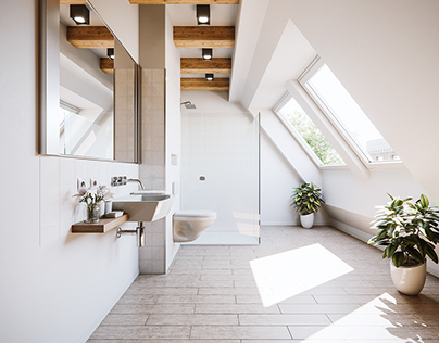 Small Attic Bathroom Remake