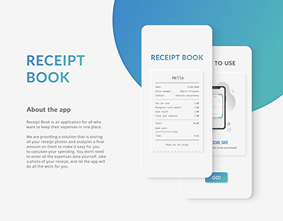 Receipt Book | Financial App Design