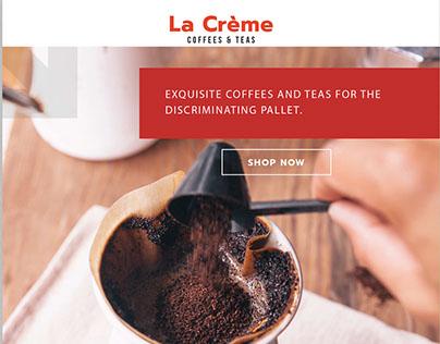La Creme Website Concept