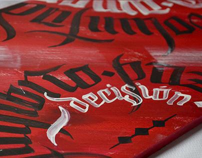 Cuadros pintados - Lettering