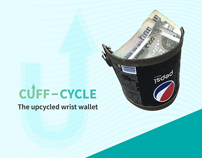 Cuff Cycle : The upcycled wrist wallet
