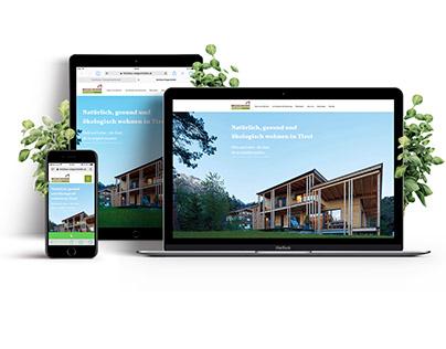 new brochure + website Holzbau Wegscheider