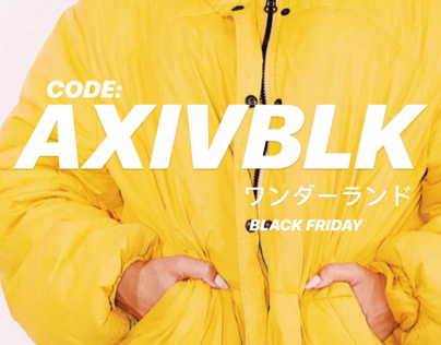 AXIV Instagram Black Friday Promotion