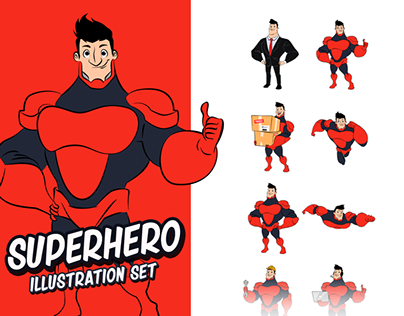Superhero Illustration Set Ver.1.0