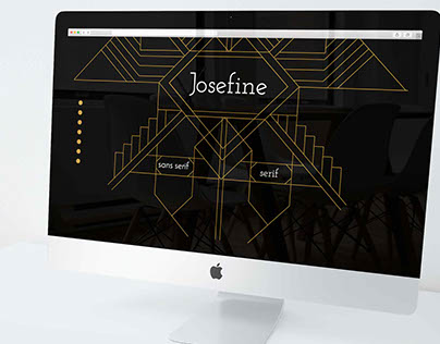 Josefine font website