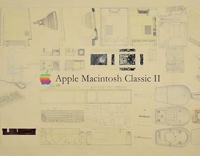 Technical Drawing // Apple Macintosh Classic II 2018