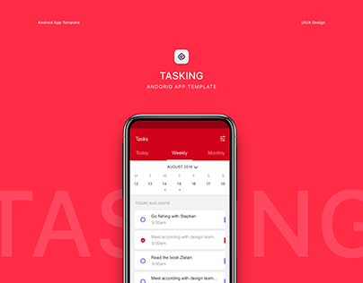 Task management android app template