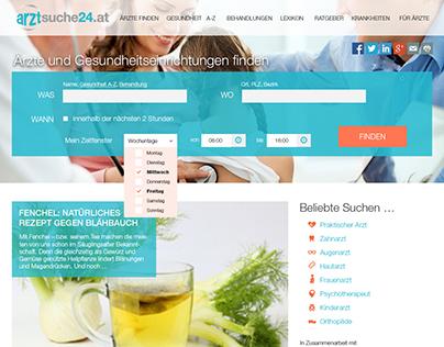 Screendesign arztsuche24