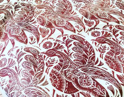 Hand printed block printed textiles