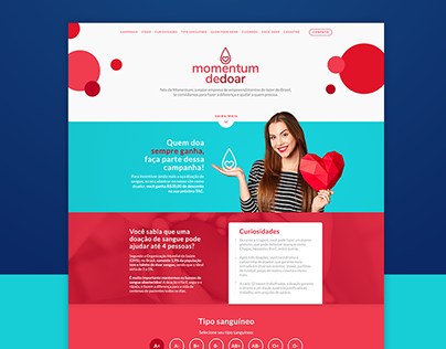 Landing Page - blood donation
