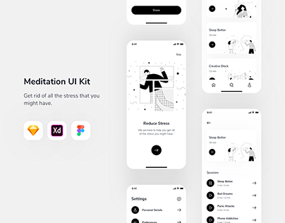 Relax.io 1.0 - Meditation Mobile Application UI Kit