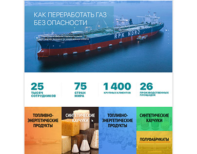 Sibur website of the Russian company