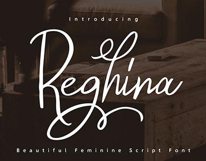 Reghina Feminine Script Font