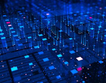 4K Futuristic Computing Data Circuit Board with AI