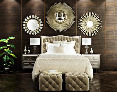 Luxury Guest bedroom interior design in Kuwait