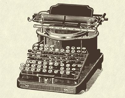 [Vintage Typewriter] Vector