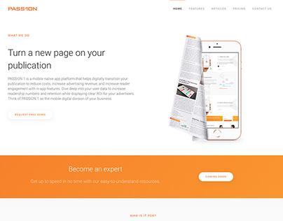 Passion1 - Digital publishing platform