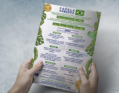 Menu de restaurant brésilien