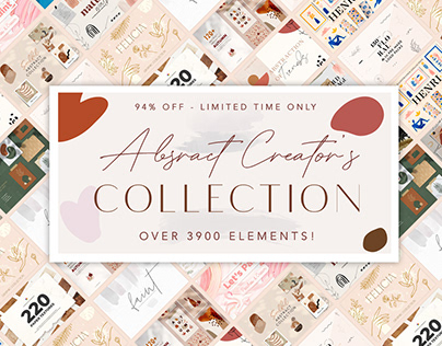 THE ABSTRACT CREATOR'S COLLECTION - 94% OFF!