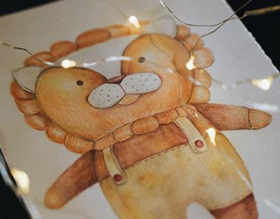 Акварельная иллюстрация, для бренда игрушек