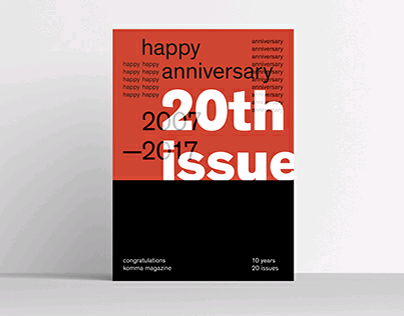 20th issue — Postcard for komma magazine