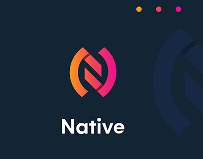 Native Logo Design ( N letter Logo )