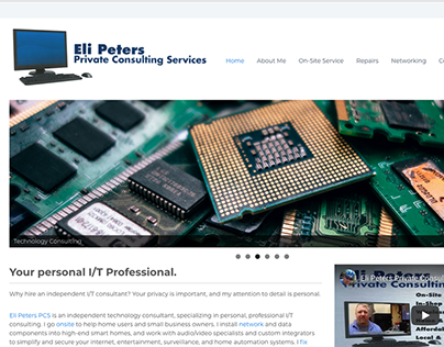 Eli Peters Consulting Website layout