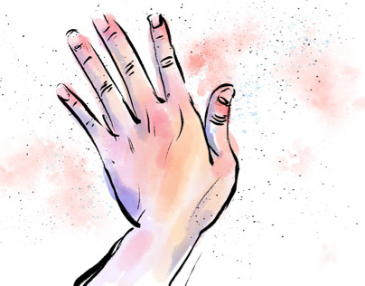 Hand sketch with Adobe Fresco watercolor