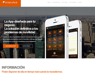Web de Actual.cat para App Oraculus
