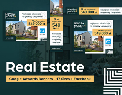 Real Estate - Google Adwords Banners - 17 Sizes