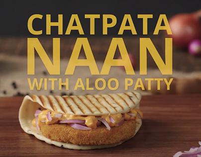 McDonalds Chatpata Naan veg Digital Foodstylist Payal