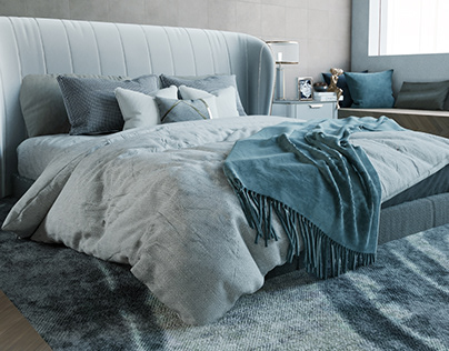 bed room gray