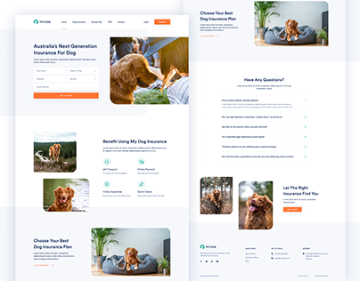 My Dog Insurance - UI/UX Design