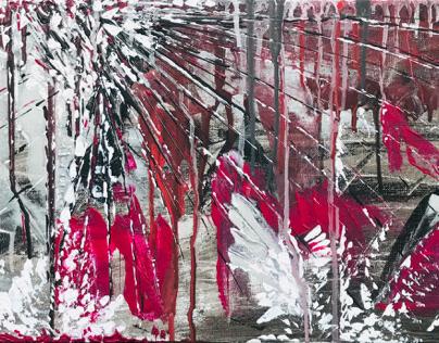 Abstract, Acrylic on Canvas