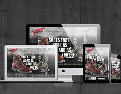 Redwing Shoes Responsive Web Design